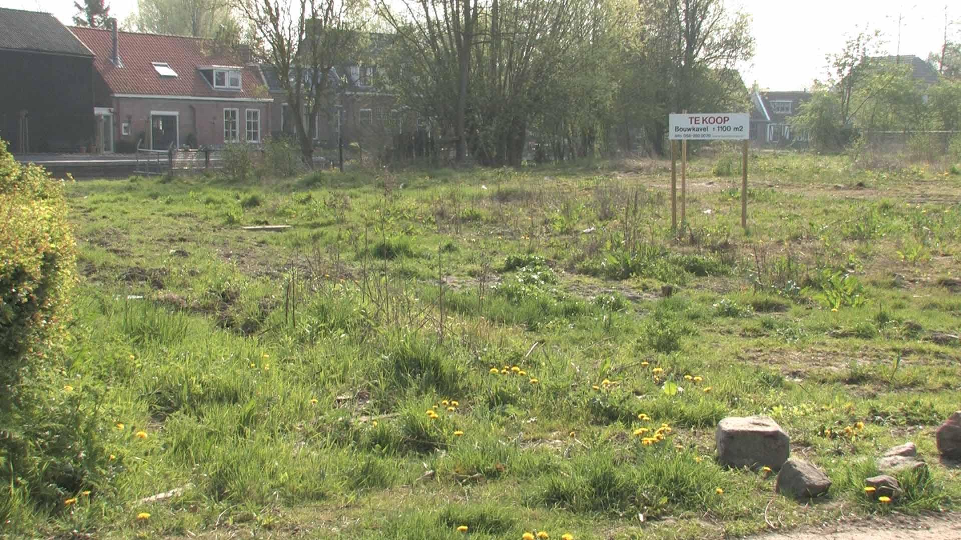 Shot uit de video van een stuk bouwgrond van Makelaardij Hart de Vries te Leeuwarden